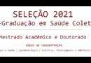 Seleção 2021-1 para Doutorado e Mestrado Acadêmico – Resultado das provas de línguas.