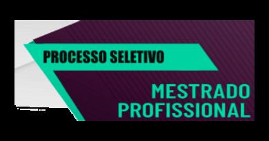 Processo Seletivo para 2021/1 – Mestrado Profissional SES-RJ
