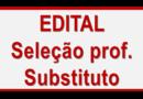 Seleção para Professor Substituto –  CONFIRA O RESULTADO DO RECURSO